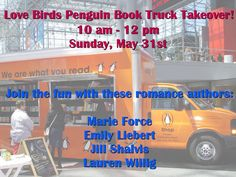 Live in New York? Join me and other romance authors at the Penguin Book Truck this Sunday at #BookCon15! Chat, buy, have some fun! (Javits Center)