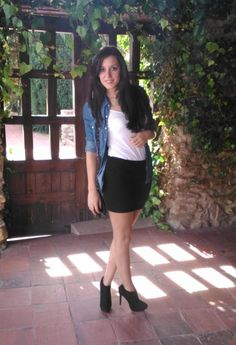 Outfits with Ankle Boots | Chicisimo Again, my black ankle boots are not stiletto, but they can do this, exact outfit actually.