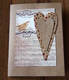 Handmade Cards Valentine Card  Handmade by MapleLeafLane on Etsy, $3.75