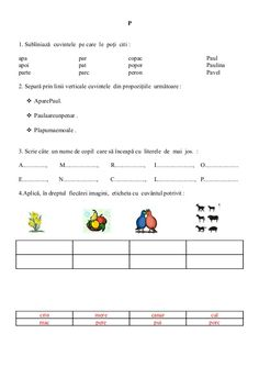 Visual Perceptual Activities, Romanian Language, Kids Education, Romans, Curriculum, Preschool, David, Early Education, Resume