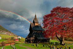 Hopperstad Stave Church in Vik, Norway (John & Tina Reid)