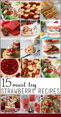15 Must-Try Strawberry Recipes