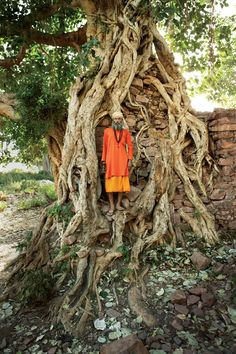 """I found this priest searching for firewood outside this crazy-beautiful temple,"" says photographer Frédéric Lagrange, who happened upon him in the village of Bhangarh, which is halfway between Delhi and Jaipur and is known for its haunting (and, some say, haunted) ruins. ""He told me he was wandering the world without possessions, in search of knowledge.""See the complete India itinerary"