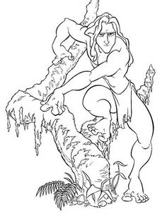 Coloring pages » Tarzan Coloring pages