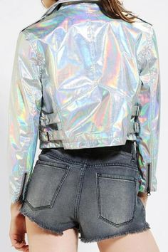 CULT By Lip Service Hologram Moto Jacket #iridescent #prettytough #jacket