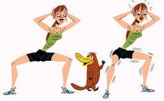 David Kirsch's Platypus Walk workout move (works butt and inner thighs)
