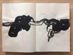 Livre d'artiste – peinture abstraite à l'encre de Chine, Olivier Umecker / Artist book - ink painting Inspiration Art, Art Abstrait, Art Sketchbook, Drawing, Sketchbooks, Art Journaling, Art Pictures, Artwork, Abstract Art
