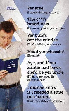 The Bawheid's Guide to Scots Scottish Words, Scottish Quotes, Scottish Gaelic, Scottish Highlands, Scottish Tweets, Scottish English, Scotland History, Glasgow Scotland, Scotland Travel
