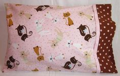 Travel Size Pillowcase - Fancy Cats