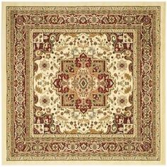 Safavieh Lyndhurst Traditional Oriental Ivory/ Red Rug (10' x 14') | Overstock.com Shopping - The Best Deals on 7x9 - 10x14 Rugs