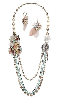 Multi-Strand Necklace and Earring Set with SWAROVSKI ELEMENTS, Czech Glass Beads and Vitrium® Clay - Fire Mountain Gems and Beads