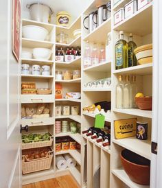 Pantry. Love the draw out shelves.