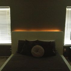 Used rope light to put behind our bed :)