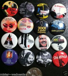 MOVIE MOTION PICTURE INSPIRED BUTTON + MAGNETS on Pinterest ...