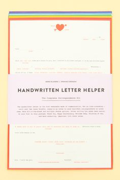 Letter writing tools
