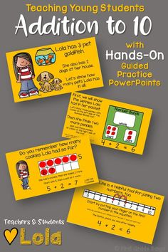 **Common Core Aligned!** This bundle includes 10 interactive PowerPoint guided practice lessons to keep students engaged and learning! Use the Number Bonds mat (included in the zip file) and some cubes along with the lessons, and watch student engagement soar! Kids love the characters and familiar scenarios, and teachers love how all the work is done for them. Just play each lesson as a slideshow and encourage student participation as you click through the animations! $