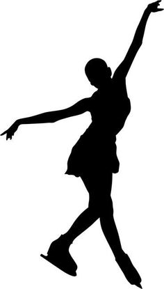 Slide Chasse Figure Skating Stencil by Crafty Stencils Dancer Silhouette, Silhouette Art, Ice Skating, Figure Skating, Middle School Art Projects, Ballerina Art, Skate Art, Figure Poses, Cute Backgrounds