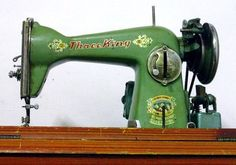 Old-school sewing machine in my favorite color