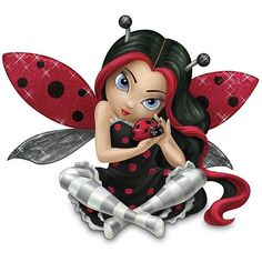 "Jasmine Becket-Griffith ""Cute As A Bug"" Fairy With Ladybug Figurine by... ($30) ❤ liked on Polyvore featuring fairies and fantasy"