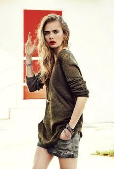 Military and red lips @ www.runway2street.com #FashionWeek