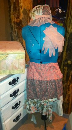 Matching skirt, gloves and multi functional hat I made. Skirt can also be worn as a shirt.