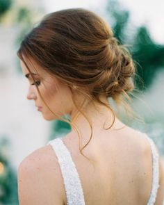 "583 Likes, 6 Comments - Style Me Pretty (@stylemepretty) on Instagram: ""Our favorite kind of bridal updo? The perfectly undone kind! 