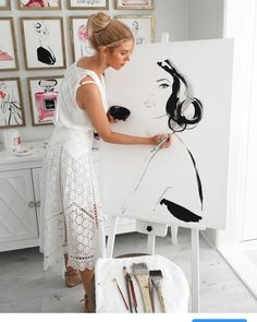 "Kerrie Hess on Instagram: ""🖤"" Fashion Illustration Portfolio, Fashion Design Sketchbook, Fashion Sketches, Fashion Illustrations, Fashion Painting, Fashion Art, Botanical Illustration, Illustration Art, Kerrie Hess"