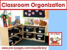 Organization help and ideas for your preschool, pre-k, or kindergarten classroom.