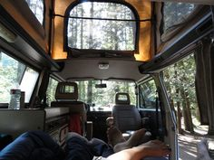 PacificNorthWesty.com lets you rent a vw van! cool view from inside! i want to do that!