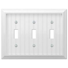 null cottage 3gang toggle wall plate white