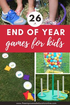 End of year gross motor games for children - vacation care and oshc activity ideas for children. Gross motor fun - outdoor games - backyard games - great for educators and includes Christmas themed games too. Outdoor Games For Toddlers, Outdoor Games For Kids, Backyard For Kids, Backyard Games, Outdoor Fun, Backyard Ideas, Sensory Activities, Summer Activities, Preschool Activities