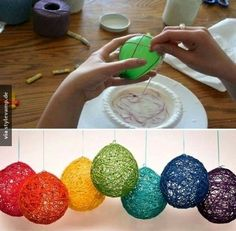 Balloon Crafts - Crafts For Christmas Kids Crafts, Easter Crafts, Diy And Crafts, Christmas Crafts, Craft Projects, Projects To Try, Christmas Decorations, Arts And Crafts, Christmas Ornaments