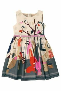 mth Buy Bunny Scene Dress from the Next UK online shop Frocks For Girls, Little Girl Dresses, Girls Dresses, Toddler Girl Outfits, Kids Outfits, Tween Fashion, Sweet Dress, Stylish Kids, Kid Styles