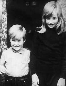 Princess Diana with brother