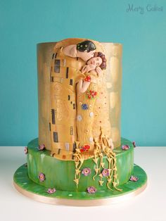 """The Kiss"" wedding cake~Gustav Klimt"