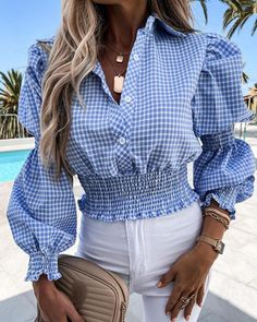 Chic Type, Trend Fashion, Women's Fashion, Blouse Models, Blouse Online, Shirts Online, Blouse Styles, Work Casual, Blouses For Women