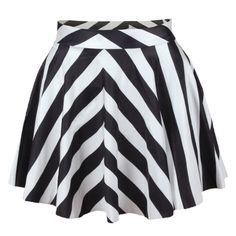 stripes print pleated mini skater skirt. This would be great with a black tank and green cardigan