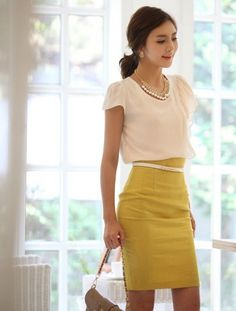 2013 New Fashion Women's OL Skirt Slim Retro Casual High Waist Pencil Skirt $9.48