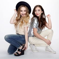 Sabrina and Rowan from Girl Meets World. These Disney actresses are good friends and talented, stunning young ladies.