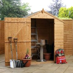 4ft x 6ft Windowless Value Tongue & Groove Apex Shed 4 x 6 Garden Wooden Shed 4x6