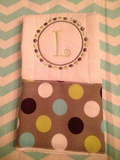 Custom burp cloth for Baby Levi