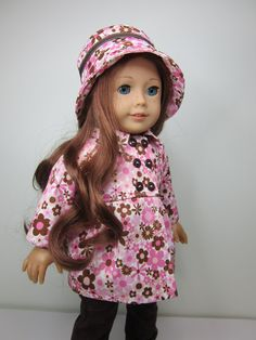 American girl doll clothes Pink and brown by JazzyDollDuds, $25.00