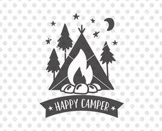 Happy Camper SVG DXF Cutting File Svg Camping Cut Vector Cam