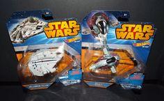 Hot Wheels Star Wars Boba Fett's SLAVE 1 & MILLENNIUM FALCON New! #Mattel