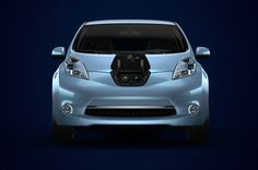 Nissan Leaf. Zippy little all-electric around-town car.  Downside: tiny and hideous, especially that default electric blue. Also: 60-mile range.