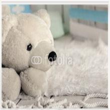Fotorollo Weisser Teddybär   in verschiedenen Größen, blickdicht oder verdunkelnd