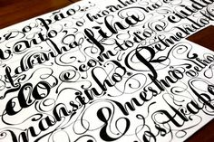 funky calligraphy