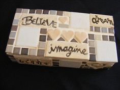 Elani 's class in mosaiced brick to use as a doorstop...loved it