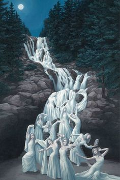 Images of Paintings Mind-Twisting Optical Illusion By Rob Gonsalves.The beautiful and mind-bending illusions in Canadian artist Robert Gonsalves' paintings Optical Illusion Paintings, Optical Illusions, Robert Gonsalves, Street Art, Surrealism Painting, Magic Realism, Wow Art, Magritte, Canadian Artists