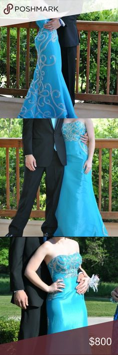 PROM DRESS Authentic Blue Prom Dress from Christopher's in Gainesville. Same dress the real Voice of Ariel wore to a banquet. Fits a size 2. Beautiful. Worn once. Dresses Prom